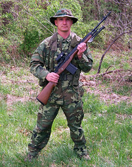 100_4316 (cowboy chris bbq) Tags: cute sexy hat usmc model marine gun photoshoot calendar boots modeling military rifle models columbia camo mo cap cover missouri blonde posters casual camoflage m14 booniehat cowboychrisbbq