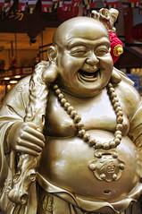 Any Luck lately? A rub on his Belly may help... (williamcho) Tags: singapore religion belief belly donation smilingbuddha placeofworship d300 laughingbuddha goddessofmercy albertmall astoundingimage williamcho imagesfromsingapore kuanimtonghoodchotemple