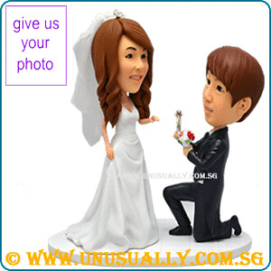 Custom 3D Wedding Proposal Couple Figurines