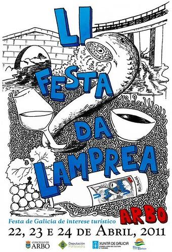 Arbo 2011 - Festa da Lamprea - cartel