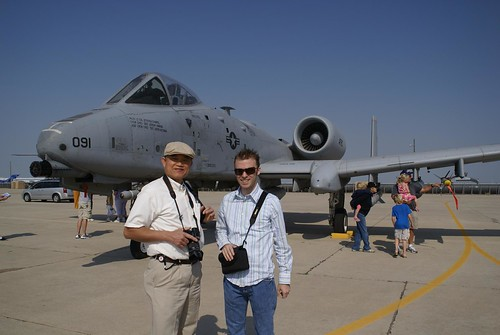 Dad and Nicholas with the A10 Thunderbolt