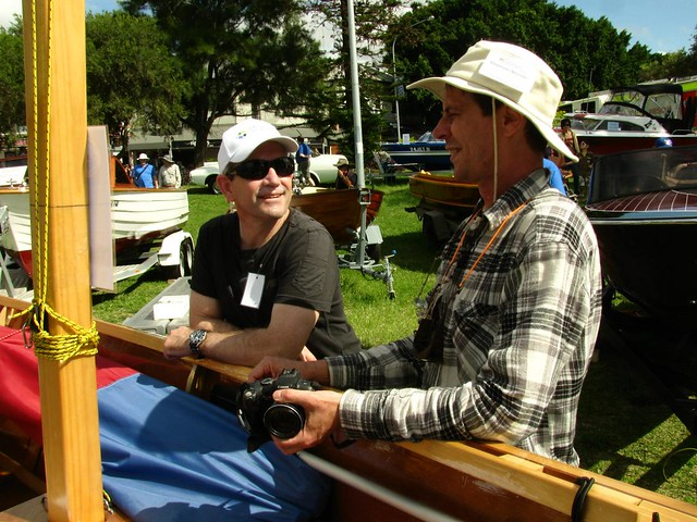 Bruce, Alex and Michael Storer at the Lake Macquarie Classic Boatfest 2011 - looking forward to 2012!