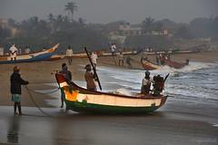 Another day (me suprakash) Tags: morning sea motion beach fishermen action menatwork activity fishingboat tamilnadu kovalam nikond90 nikonflickraward startingaday