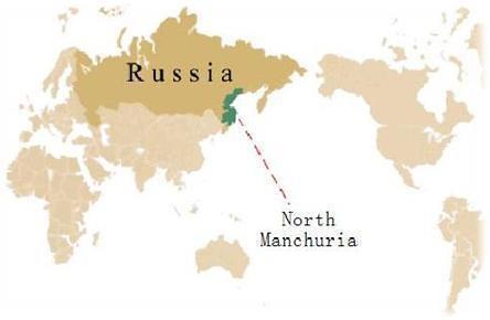 图:俄罗斯境内的满洲地区Хаба́ровск
