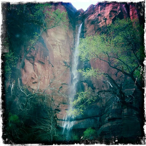Zion - River Walk waterfall