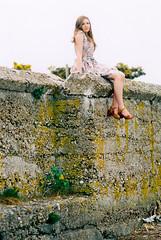 Texture (Quiet Corners) Tags: light summer lake color colour slr film beach water girl fashion 35mm zoe design model nikon soft shoot dress natural harbour dresses manual breeze zozo pagham nikonfe2 fe2