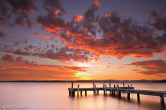 Sunset @ Lake Macquarie (-yury-) Tags: sunset sky lake water clouds pier belmont jetty australia nsw centralcoast lakemacquarie squidsink
