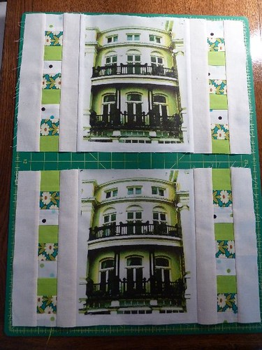 Brunswick Terrace, cushion covers ... main piecing