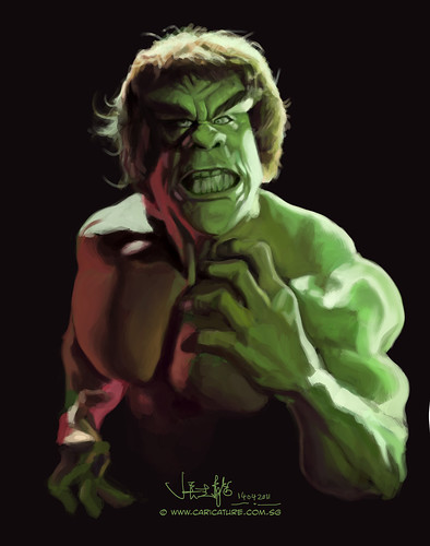 digital sketch study 2 of Lou Ferrigno - 3