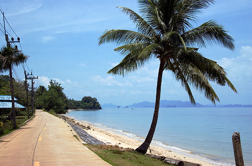 East coast road on Koh Yao Noi