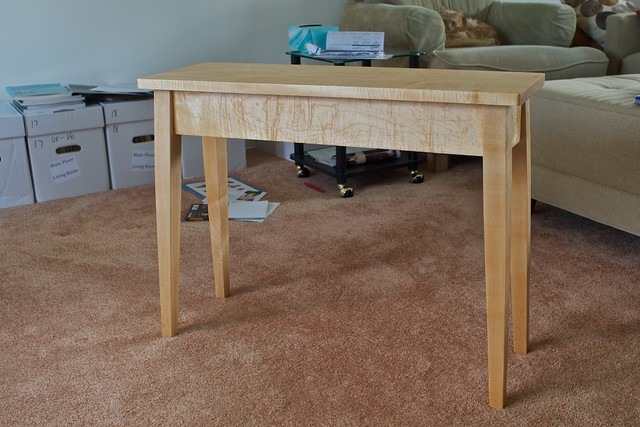 Splay Leg Hard Maple End Table Mk. 2