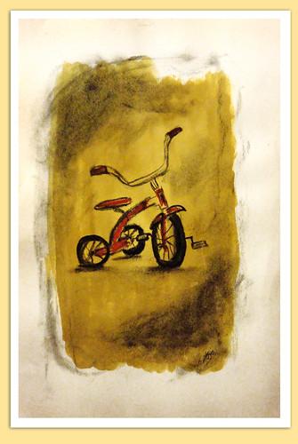 Triciclo de antaño by Axel Zapata