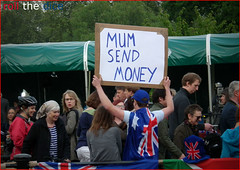 Will n Kate`Royal Wedding (roll the dice) Tags: people holiday money london westminster fun personal australian atmosphere australia prince william victoria tourist cheeky queen cash celebration help buckinghampalace monarch jolly aussie kiwi homesick themall sw1 royalwedding stjamess londonist katemiddleton