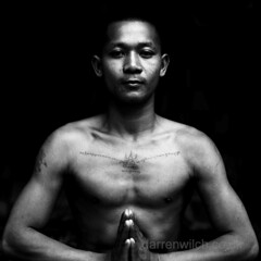 Buddhist Monk with a Magic Tattoo (DarrenWilch) Tags: tattoo cambodia khmer with buddhist magic traditional monk rough tradition superstition suspicious