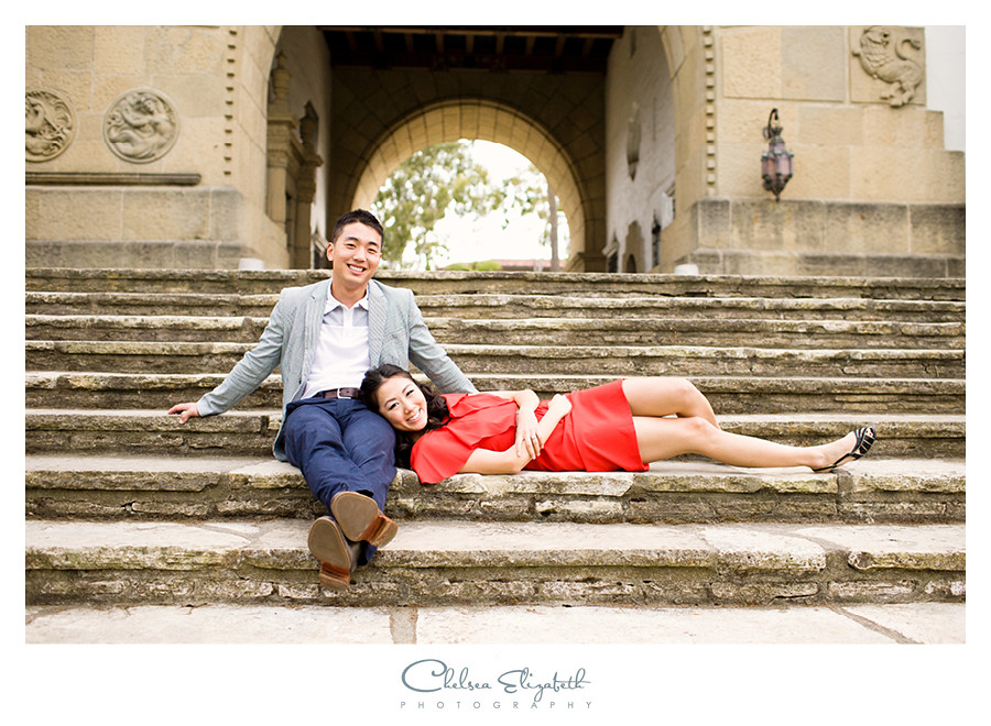 santa barbara courthouse engagement portrait