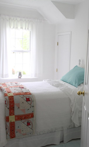 ..just finished the tiny all-white bedroom...