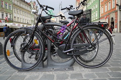 Wroclaw Parked Bicycles