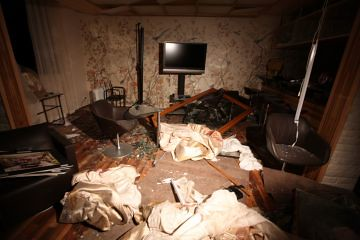 Home where Said al-Arab Gaddafi was assassinated along with his three children by the imperialist forces of NATO. The US/Nato assault on the North African state has resulted in thousands of deaths. by Pan-African News Wire File Photos