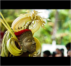 The Mask of Gulikan (Ajith ()) Tags: india festival kerala ritual hindu malabar artform theyyam northkerala ritualart gulikan
