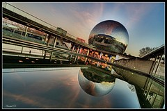 Geode HDR (Raws from A.G. Photographe) (Arnaud D...) Tags: light paris france reflection water reflet geode hdr lavillette postprocessing lageode niksoftware borderfx facebookevent flickrunitedaward hdrefex agphotographe