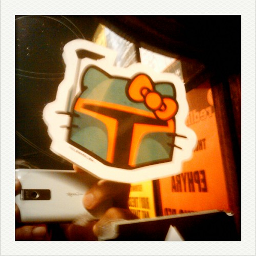 5-1-11. darkroom bathroom. Hello Boba Kitty Fett