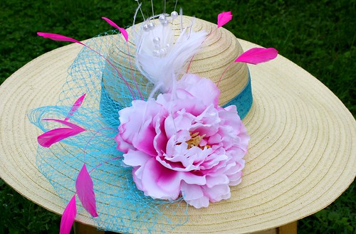 Pink and Blue Derby hat