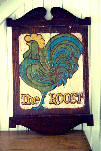 Vintage the Roost Wooden Sign