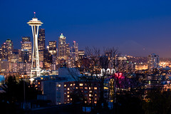 Seattle at Night (Kathy~) Tags: seattle night washington nighttime spaceneedle yourock2nd herowinner thepinnaclehof tphofweek122