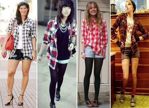 camisa xadrez para mulheres