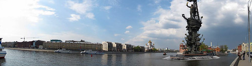 Panorama of Moscow river