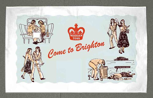 Come To Brighton Tea Towel SMALL