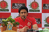 Anil Kumble during the press conference in Bangalore