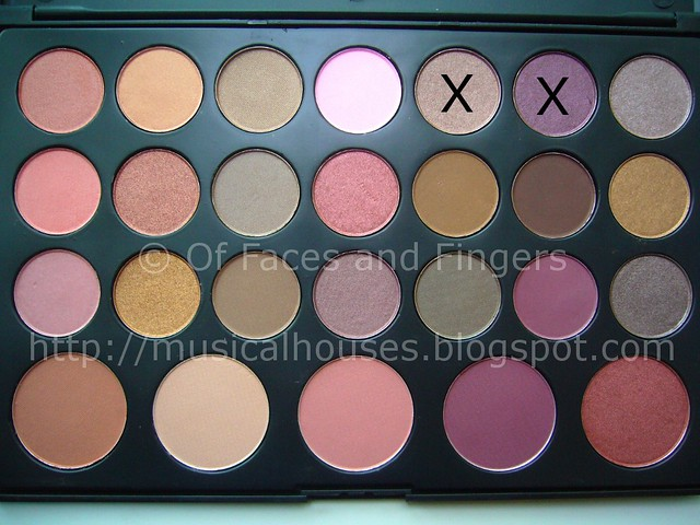 es 26 color eyeshadow blush palette smokey purple eye look