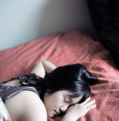slumber party in her living room (HaoJan) Tags: sleeping party portrait slumber may hasselblad kaka