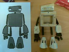 Robot Puppet (Kasper Werther) Tags: motion paper robot puppet graduation cardboard stop animation armature