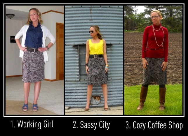 One Skirt, 3 ways
