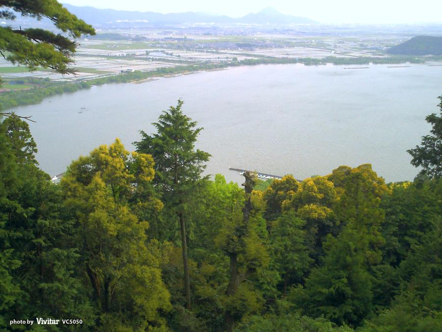 長命寺からの風景|滋賀県近江八幡市