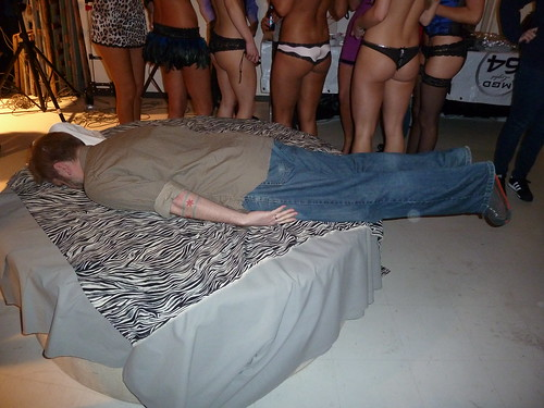 Planking at the Playboy Lingerie Party