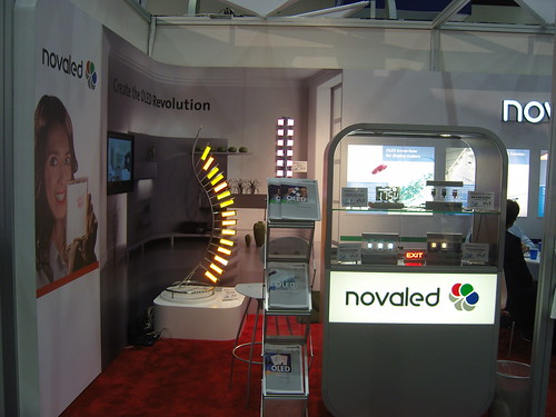 Novaled booth at SID-2011 Displayweek