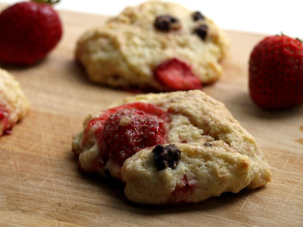 Erdbeer-Scones zum Frühstück