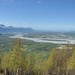 Palmer and the Matanuska River from the trail