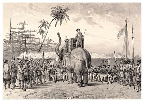 001a-Recepcion al comandante Bouganville-Conchinchina-Journal de la navigation autour du globe… 1837-Barón de Bouganville-fuente BOTANICUS