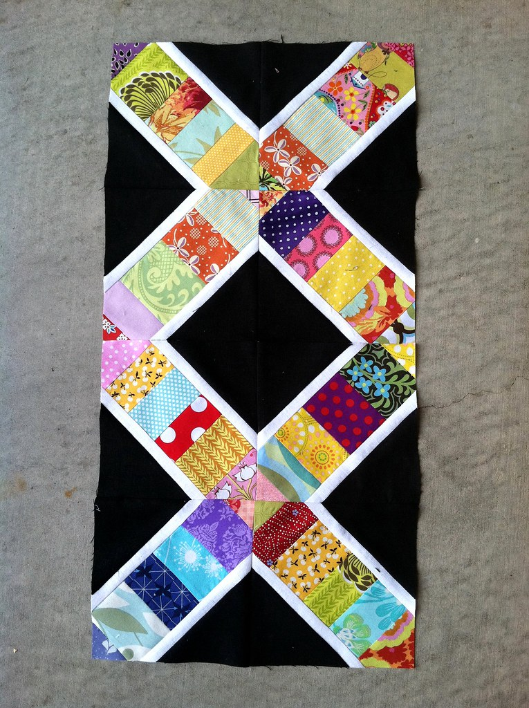 Lovely linen bee blocks for Jackie