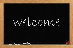 """Welcome"" Chalkboard"
