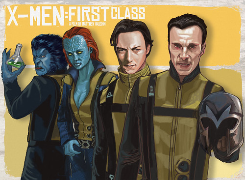 X-men: first class marvel comics kelvin chan rocketraygun GROUP
