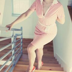 isn't she summerish? ({impossible princess}) Tags: orange 6x6 stairs stripes impossibleprincess bravolesfilles 10catz annaveselovaphotography