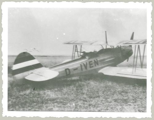 German biplane