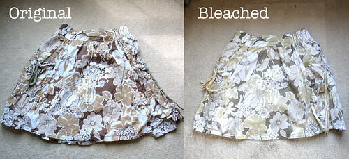 Brown Skirt: BLEACHENED!