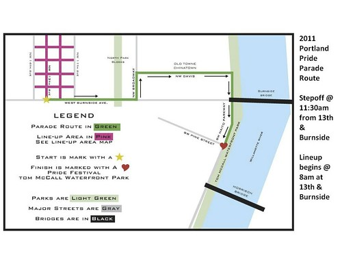 2011 portland pride parade route map