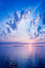 Summer sky (kobolt) Tags: sunset summer clouds göteborg sweden gothenburg archipelago sommar solnedgång skärgård moln södraskärgården vinga vingafyr vingalighthouse